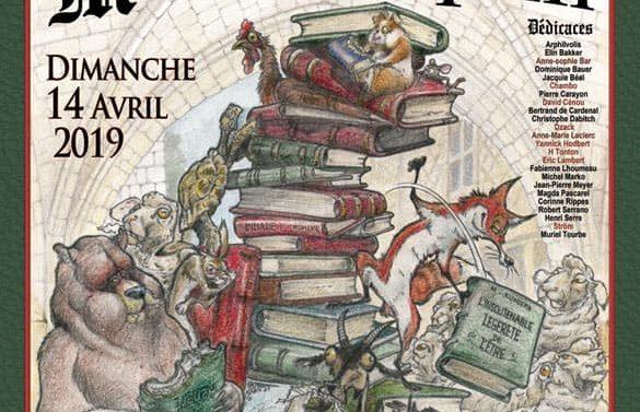 Christophe Dabitch au salon du livre de Monflanquin, le 14 avril